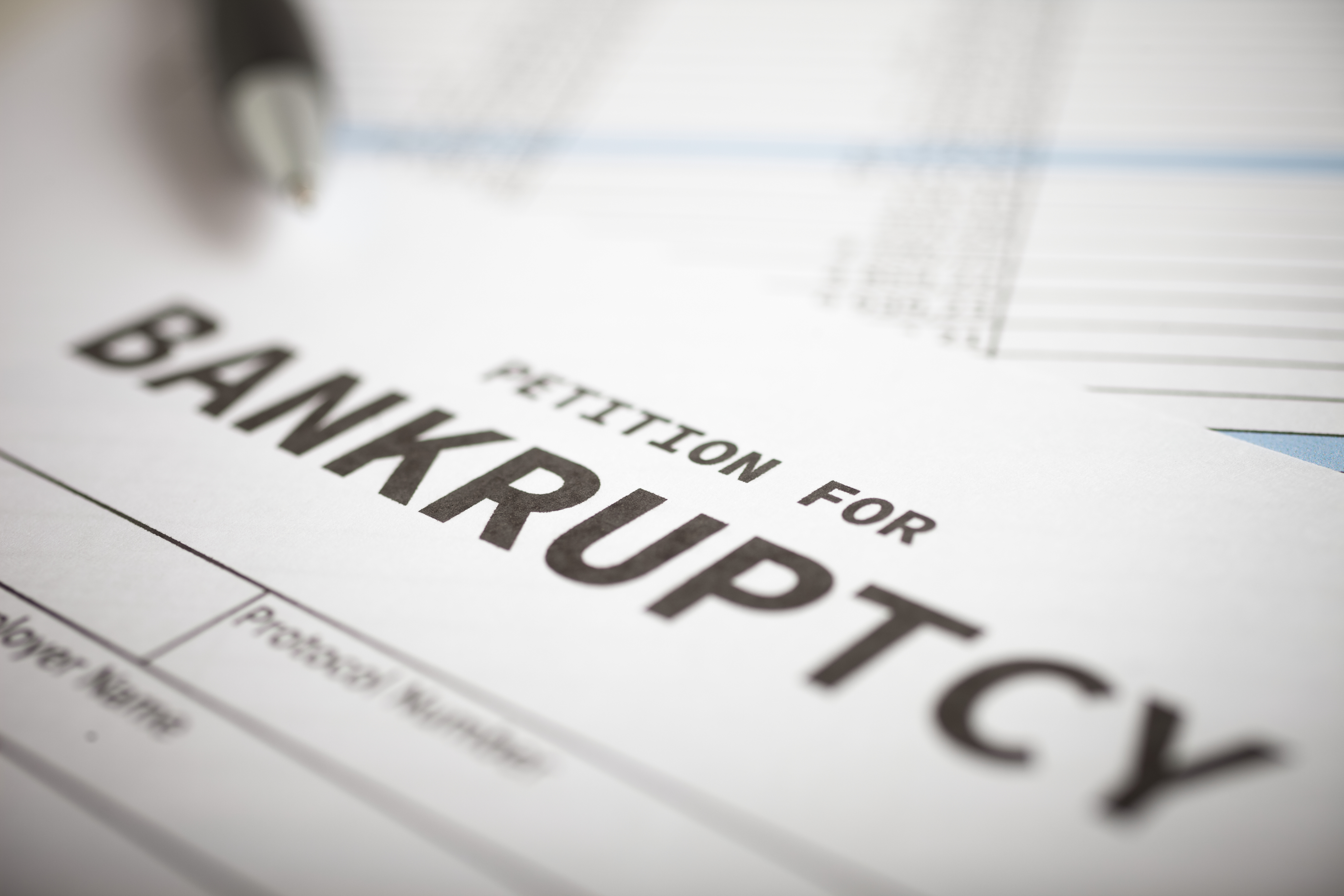 a file for filing a petition for bankruptcy