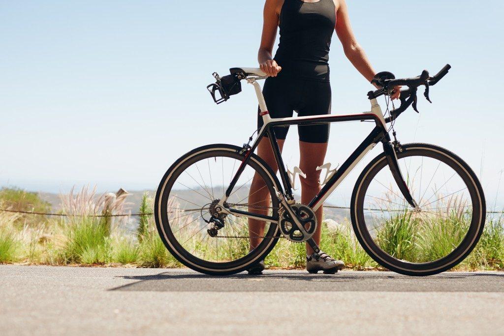 a woman cyclist