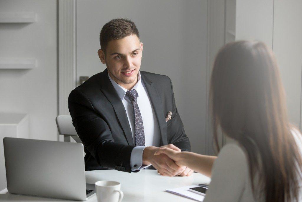 Man interviewing an applicant