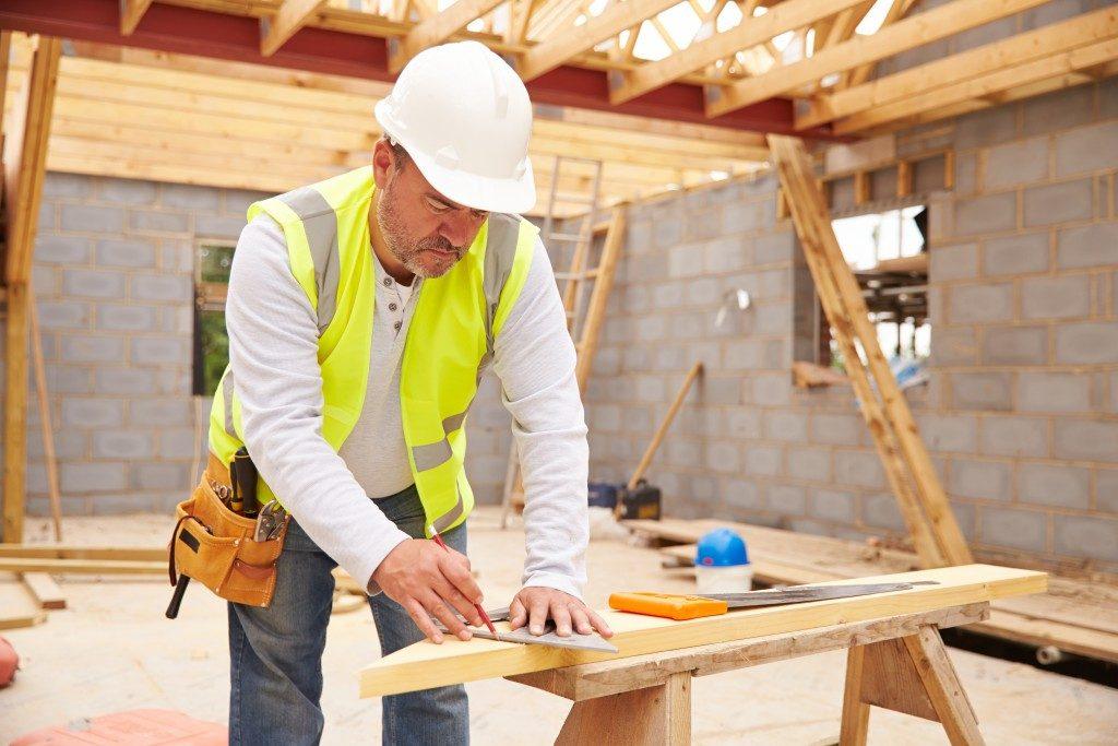 worker wearing PPE