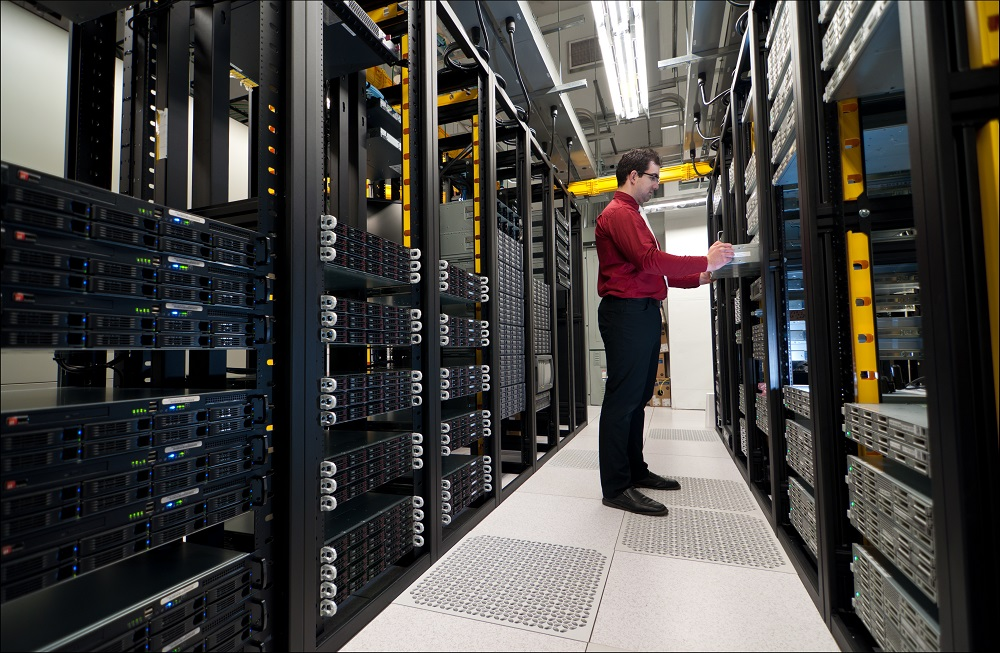 IT Professional checking the servers