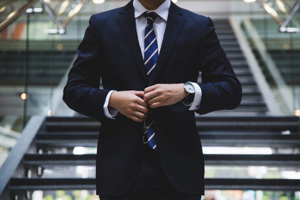 Man in corporate attire