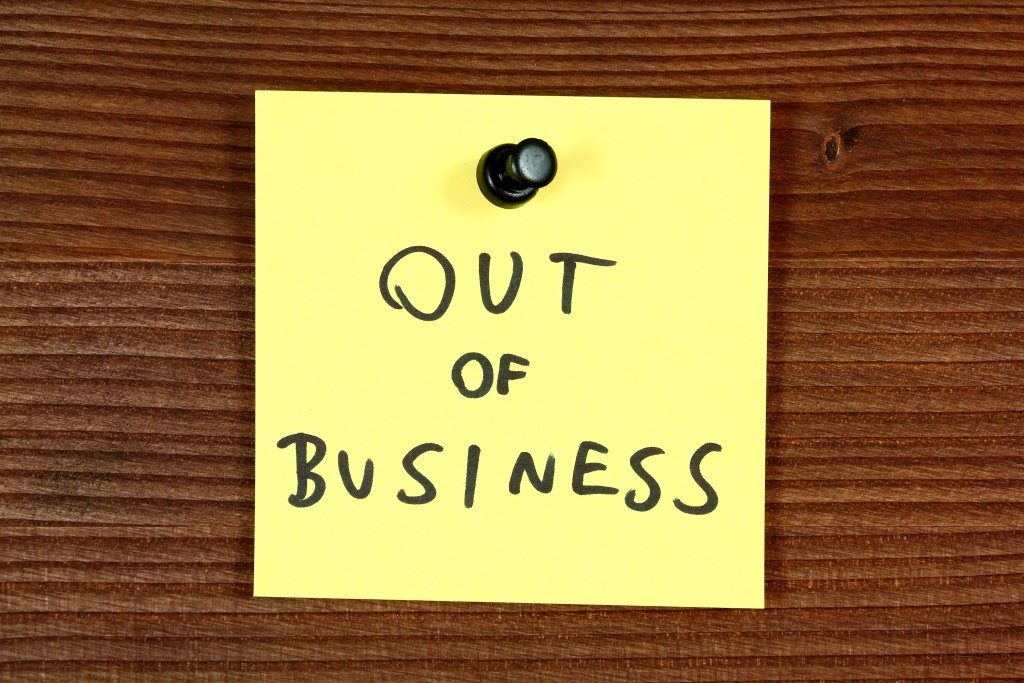 out of business bankrupt company