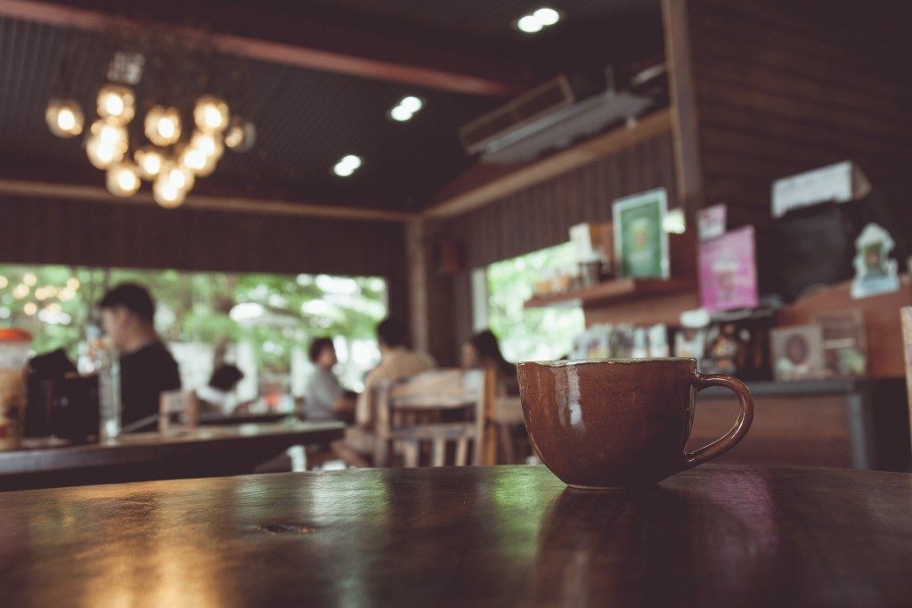 Cup of coffee in a restaurant