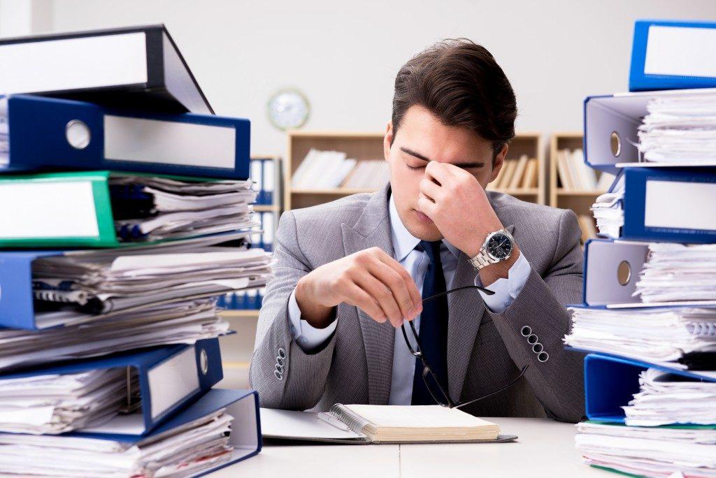 exhausted employee