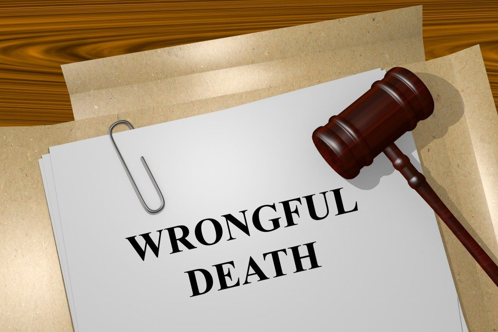 Wrongful death legal documents