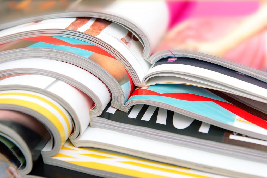 various fashion magazines