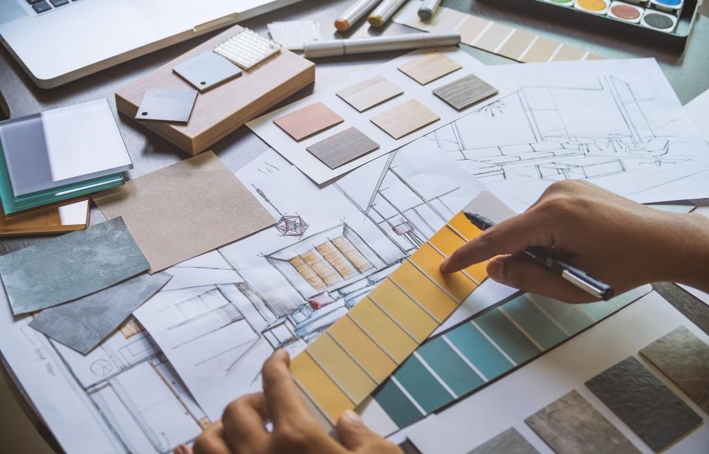 Interior design color palette design