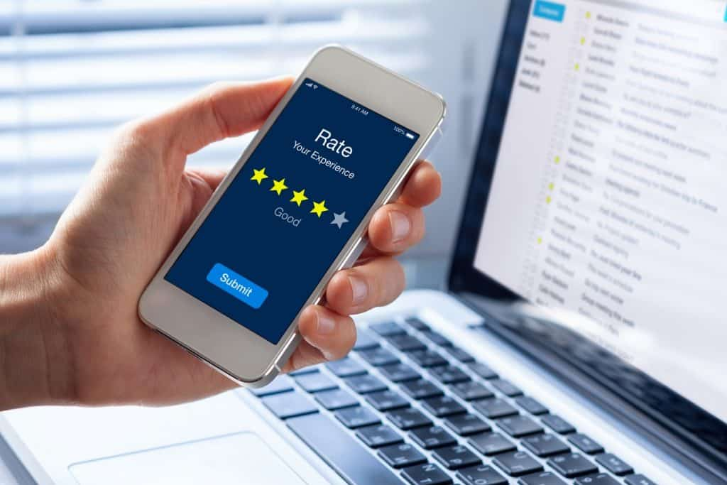 Customer rating experience in phone