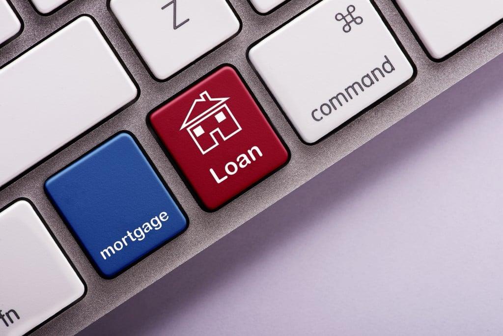 mortgage loan keypad concept
