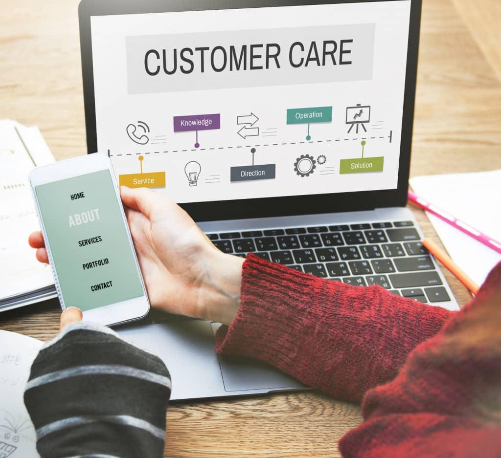 customer care page