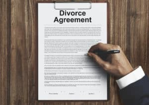 divorce agreement paper